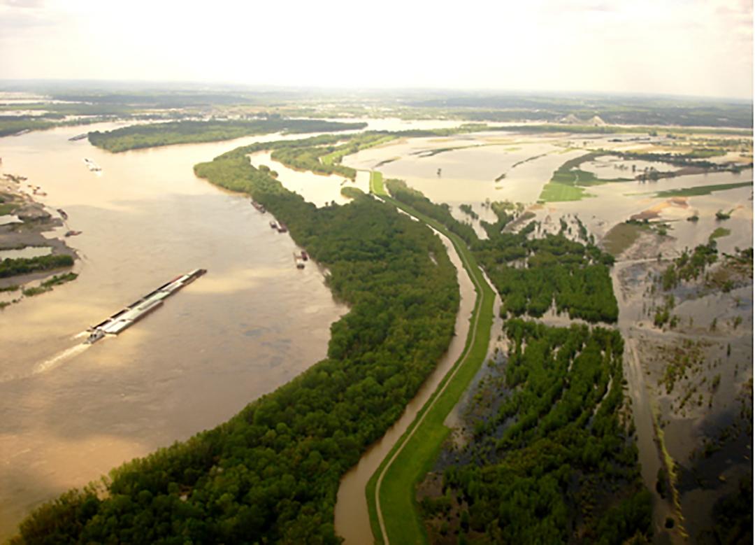 Miss River Flood Scene