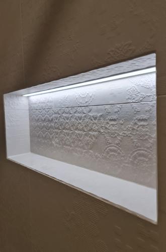 LED strip, shower nook