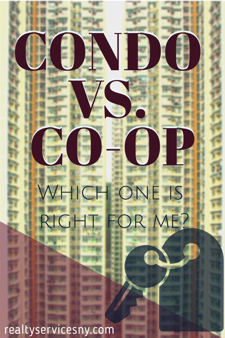 Condo vs. Co-Op Pinterest graphic