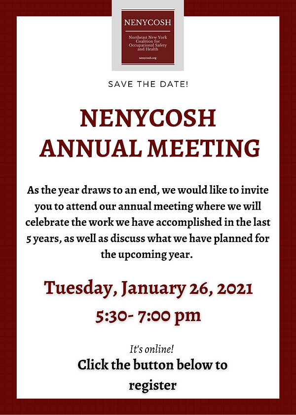 NENYCOSH Annual Meeting (Newsletter)  (1