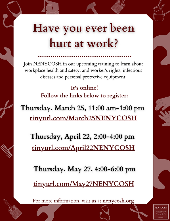 _NENYCOSH Training Open Community Traini