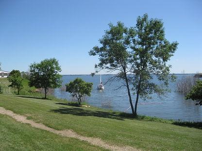 Lake view from Camp of the Cross, Garrison North Dakota