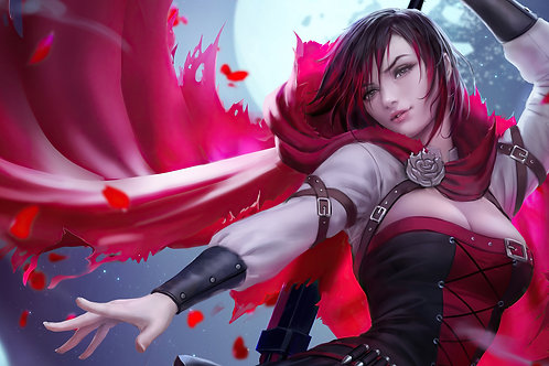 Ruby Rose RWBY Anime Girl