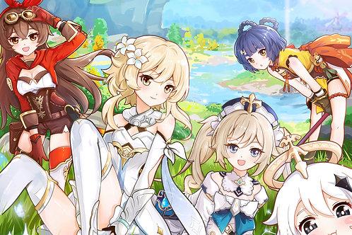 Genshin Impact Girls Characters 8K