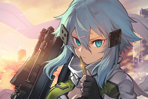 Anime Girl Sniper Rifle GGO SAO