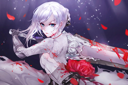 Anime Girl Warrior Sword Snow White SINoALICE