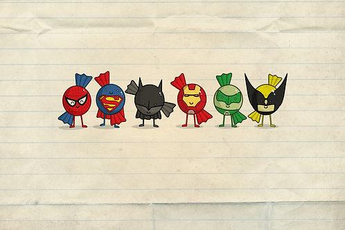 Superheroes Artwork