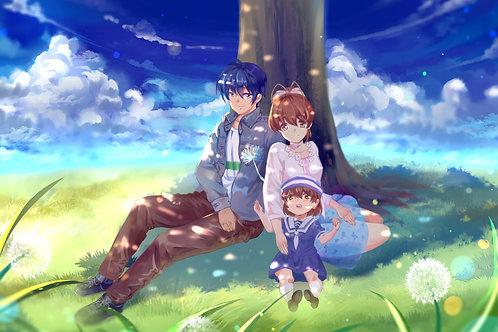 Furukawa Nagisa Okazaki Tomoya and Okazaki UshioClannad