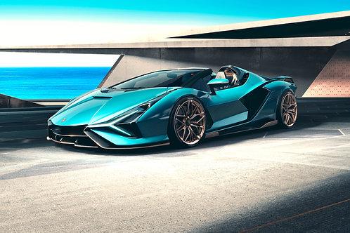 Lamborghini Sian Roadster 2020 front View