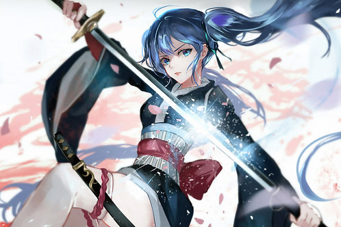 Anime Girl Katana Warrior