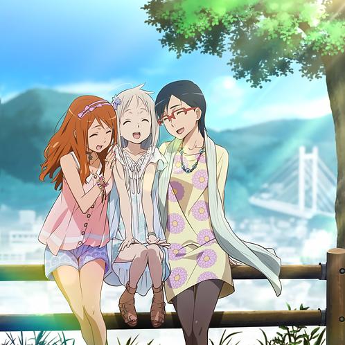 Honma Meiko Anjou Naruko and Tsurumi Chiriko Ano Hi Mita Hana no Namae