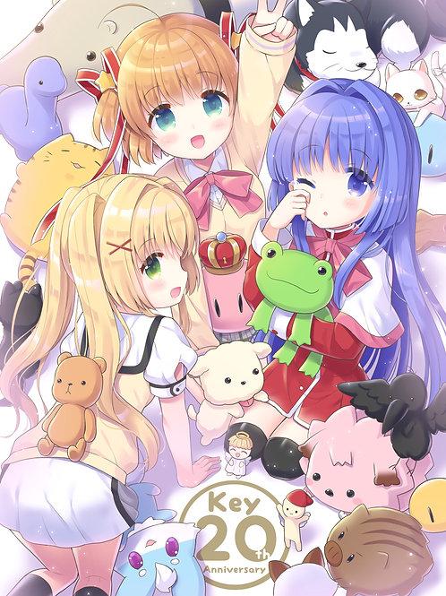 Kamikita Komari Minase Nayuki Botan Keropii and Tsumugi Wenders Little Busters