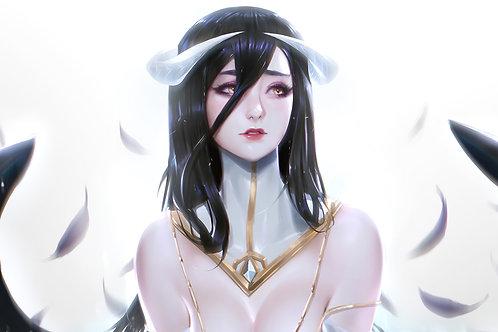 Beautiful Anime Girl Albedo Overlord