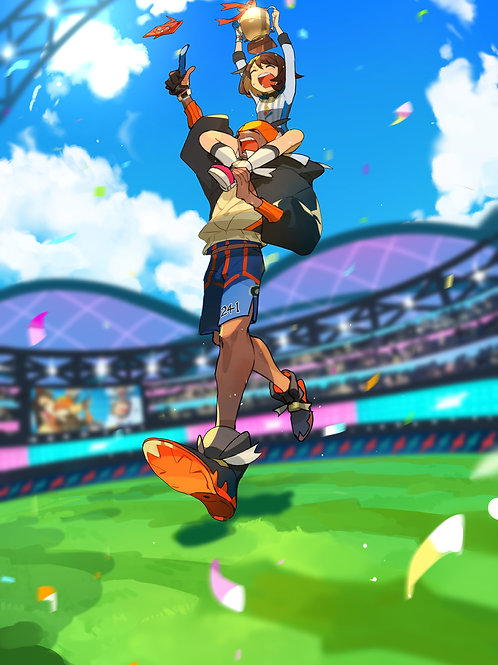 Gloria Rotom Raihan and Rotom Phone Pokemon