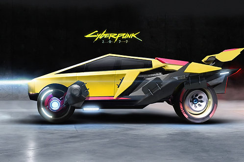 Tesla Cybertruck Cyberpunck 2077 edition