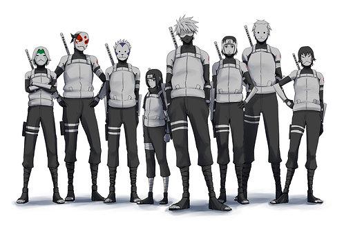 Anbu Squad Kakashi Itachi Yamato