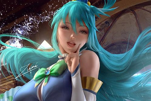 KonoSuba Aqua Anime Girl 4K