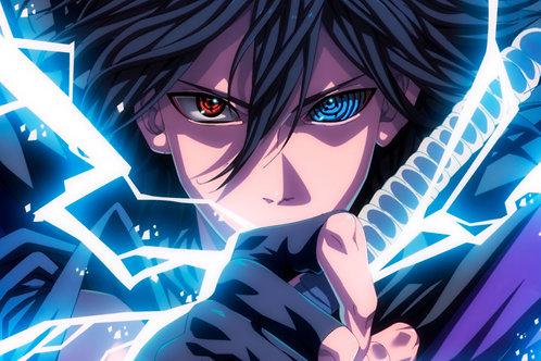 Sasuke Sharingan Rinnegan Eyes Lightning
