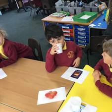 Using Senses to smell the pots -