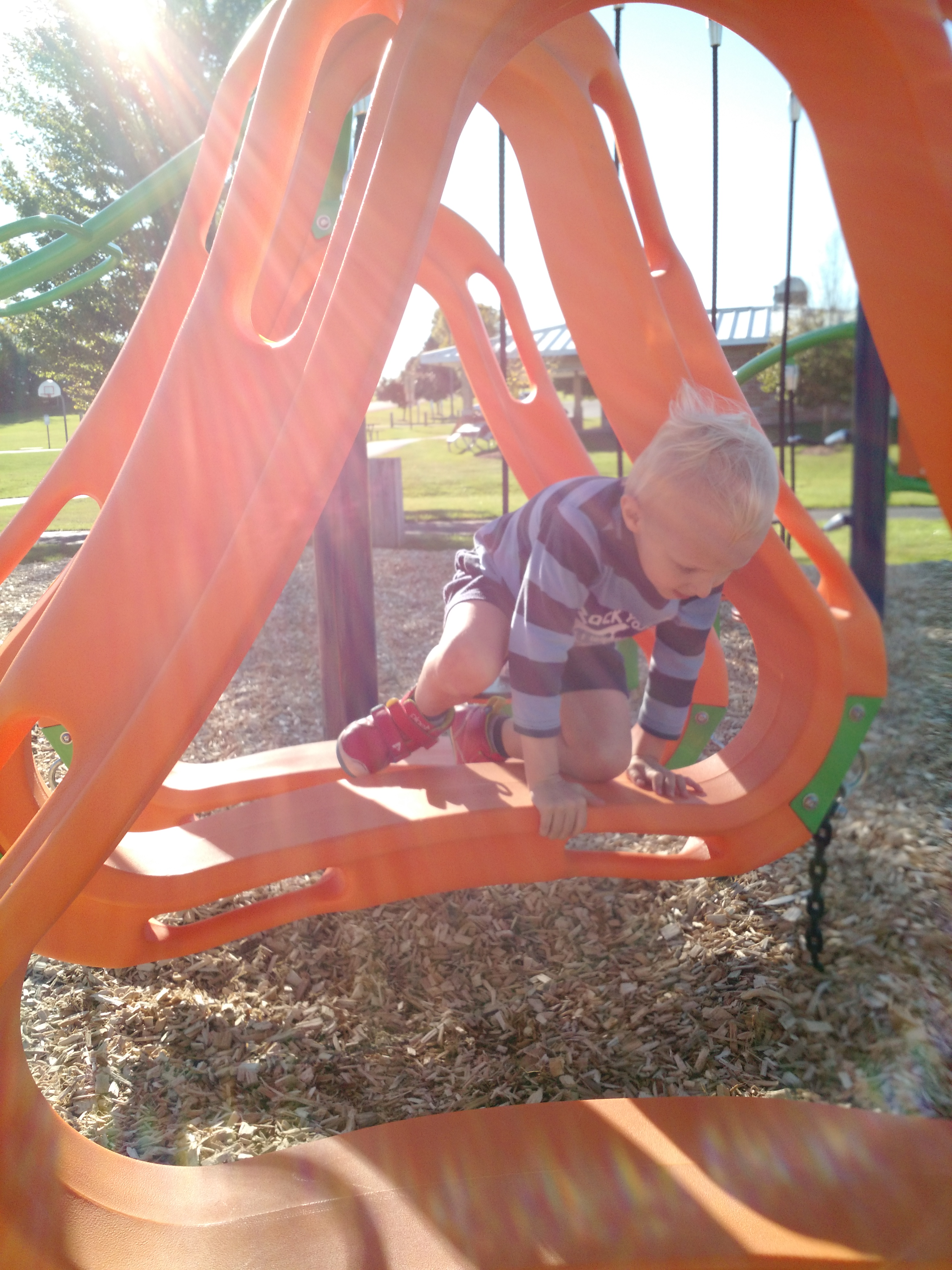 My son playing at our Town of Sheboygan Firehouse Park