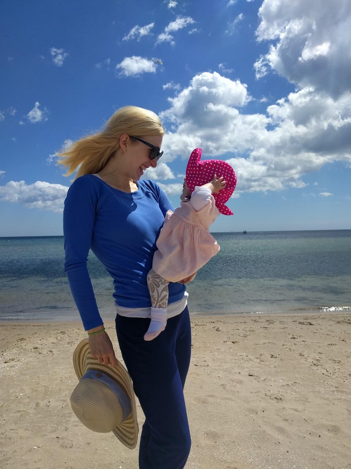 My daughter and I enjoying the Lake