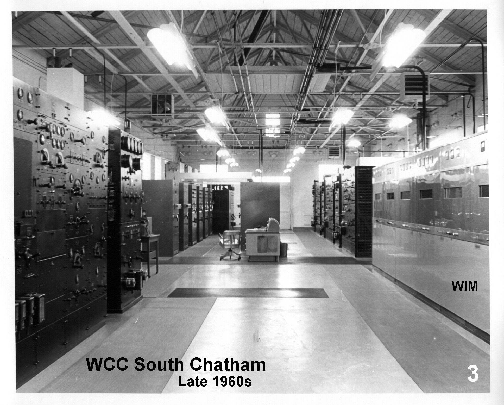 Inside of South Chatham transmitter