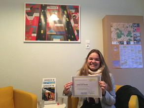 An interview with a student: Lena talks about her Erasmus+ project in Athens.