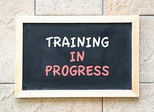 Training in progres, words on a blackboa