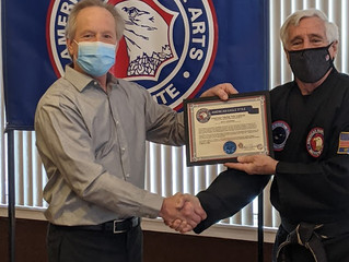 Honorary Black Belt Awarded