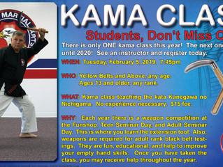 Kama Class - Tuesday, Feb 5 7:45