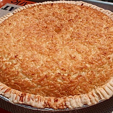 Large Coconut Custard Pie