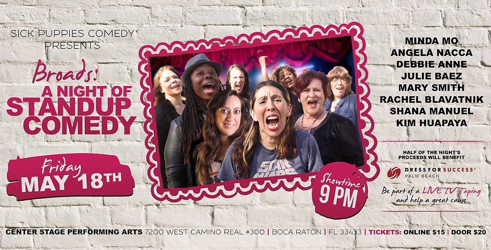 Women Stand Up Comedy in Boca