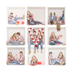 kaitlyn and Nathan 9 grid wo frame