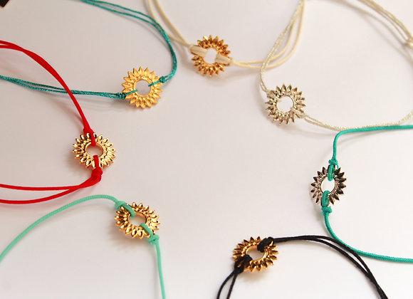 Bracelet cordon HELIOS doré