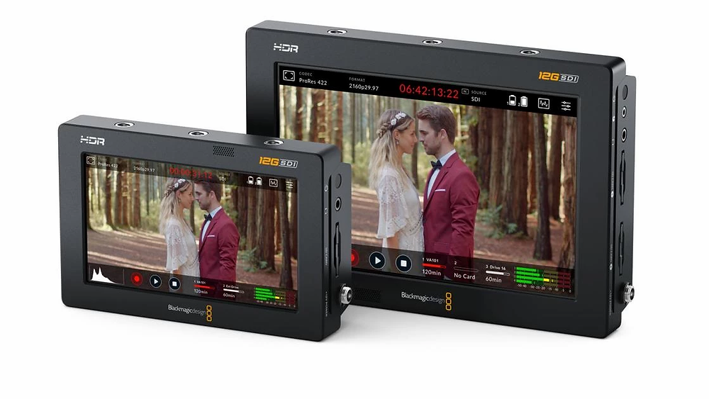 """Blackmagic Design 5"""" and 7"""" Video Assist 12G HDR recorders. Image courtesy of Blackmagic Design"""