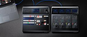 Blackmagic Design ATEM 1 M/E Advanced Panel and ATEM Camera Control Panel. Image courtesy of Blackmagic Design.