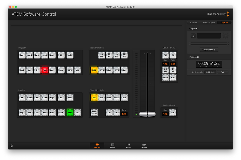 ATEM Software Control v8.0.2 with Timecode
