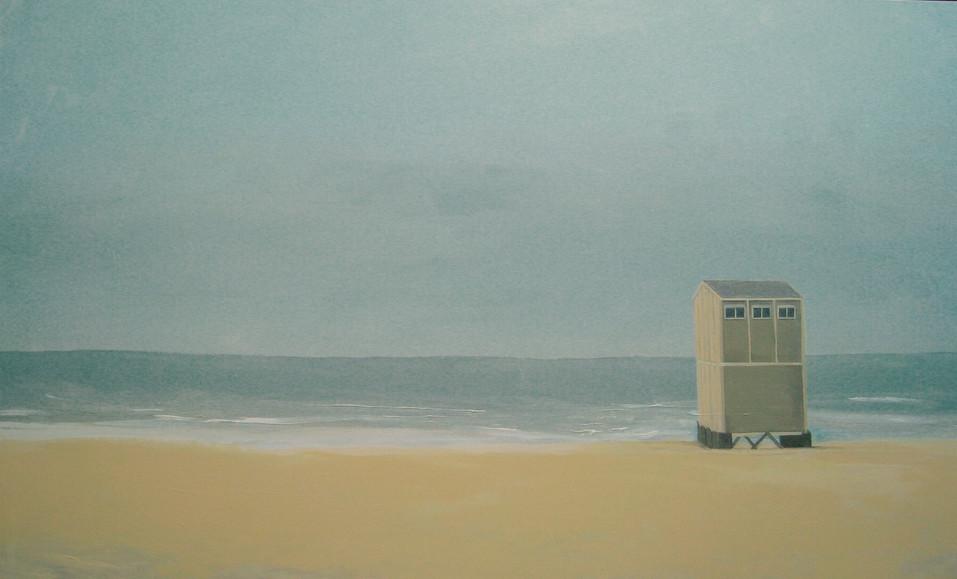 Large hut on beach