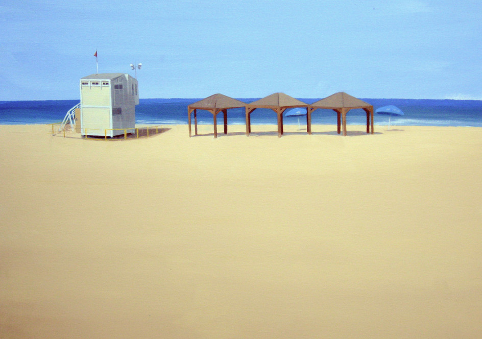 First huts on the beach