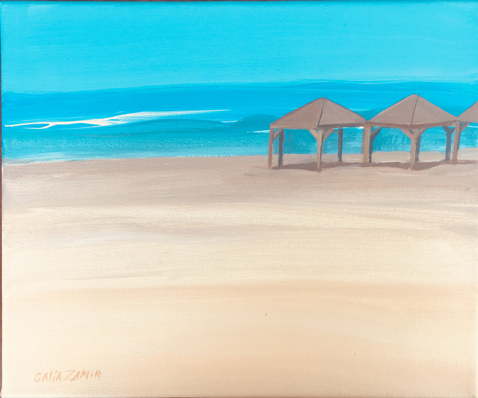 Huts on the beach