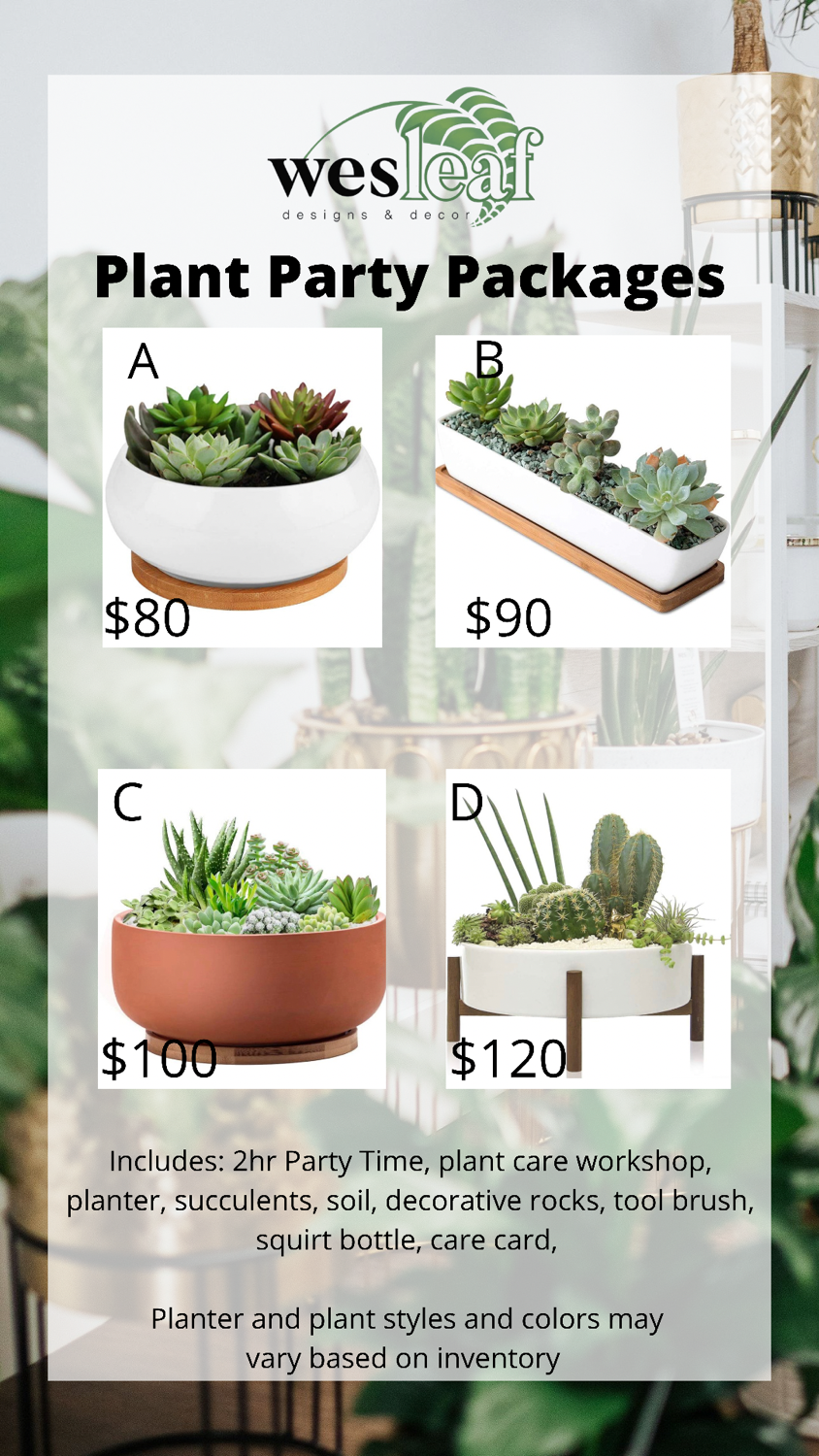 Plant Parties (Virtual and In-Person)