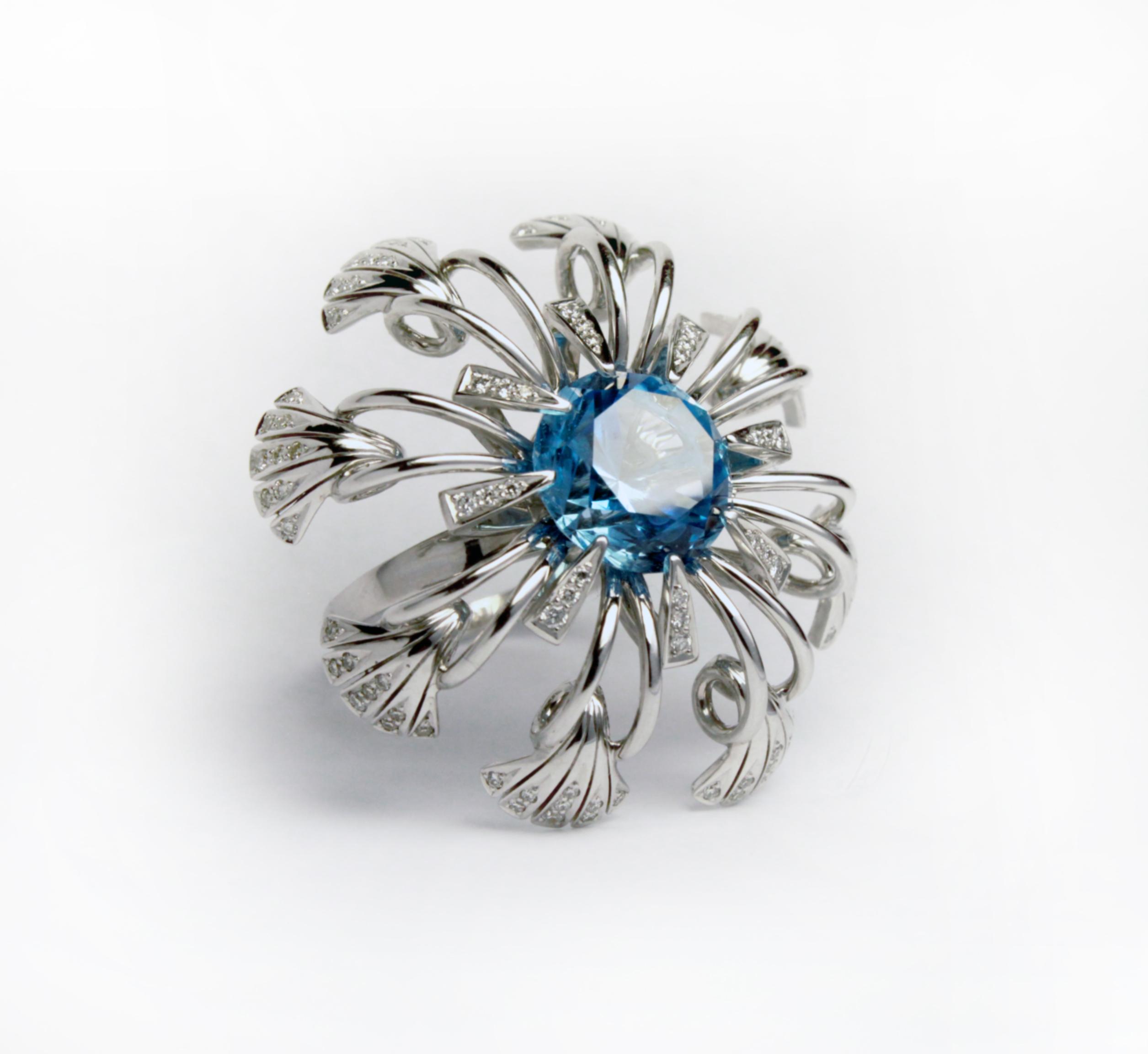 Эксклюзивное кольцо с топазом