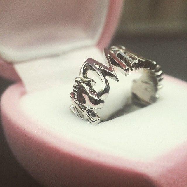 Именное кольцо на рождение ребенка