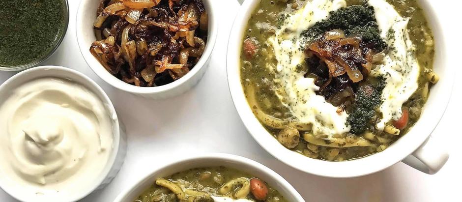 Aush reshteh- Persian Legume, Herb & Noodle Soup