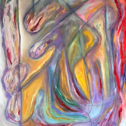 Turmoil of Humanity, Oil/Acrylic on Canvas, 48 x 60