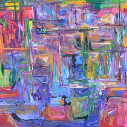 Look Inside, Oil/Acrylic on Canvas, 48 x 60