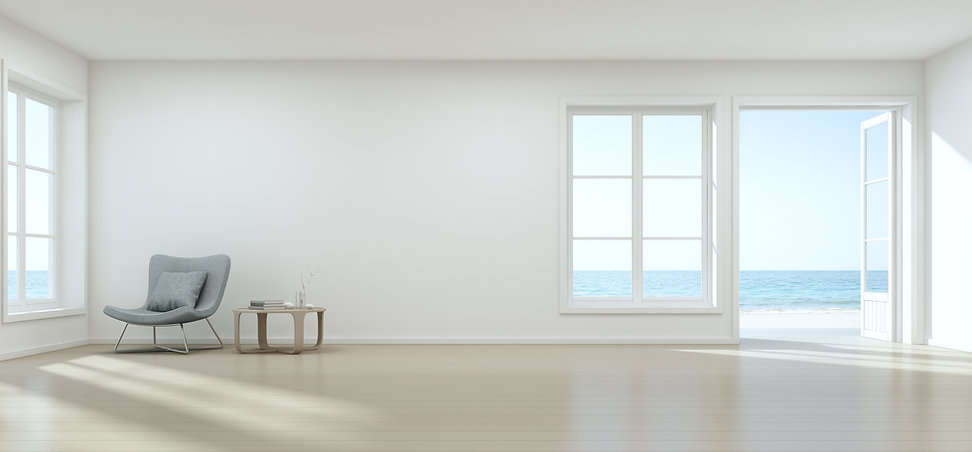 Minimalist white room with art by Robert Lombardi on the wall, The Lombardi Gallery, San Antonio, Texas Fine Art