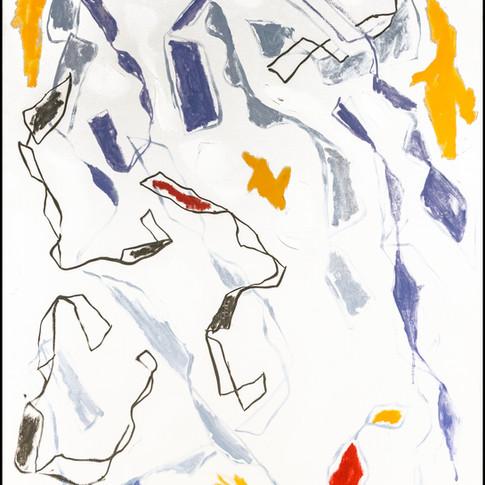 Twist #3, Oil on Canvas,  24 x 36