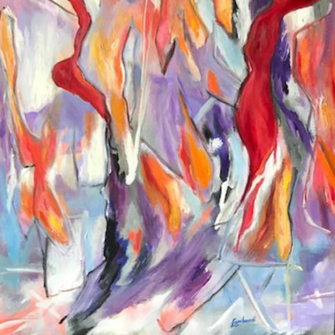 Intrusion, Acrylic on Canvas, 36 x 36