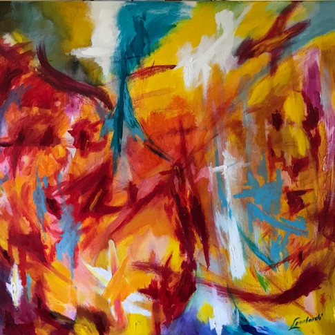 Excitement, Oil/Acrylic on Canvas, 48 x 60
